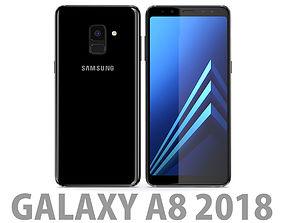 Samsung Galaxy A8 2018 Black 3D
