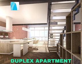 Modern Duplex Apartment Scene - Archicad 3D asset