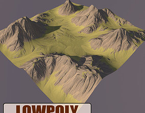 3D asset VR / AR ready Lowpoly Mountain earth