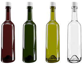 3D asset VR / AR ready Glass bottle
