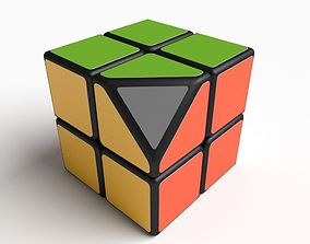 are cube 2x2 puzzle corners 3D model