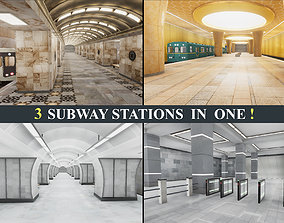 3D model Subway Stations Pack Vol 2