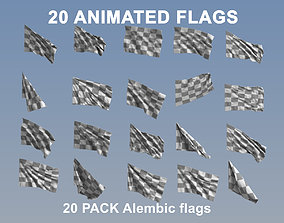 Animated Flags - 20 Pack 3D