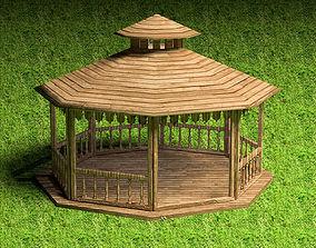 timberwork 3D model Pergola