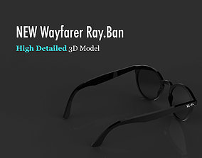Ray-Ban Wayfarer sunglasses 3D model quality