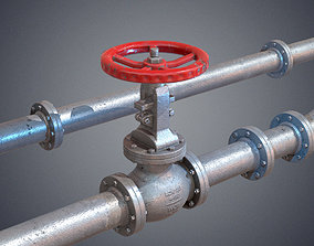 3D asset Modular industrial hydro pipes