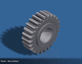 3D printable model 24-Tooth Spur Gear 03
