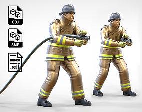 3D print model N1 Firefighter or fireman Extinguishing