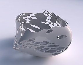 Bowl helix with bubbles holes 3D printable model