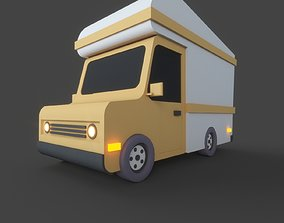 old car 3D model low-poly