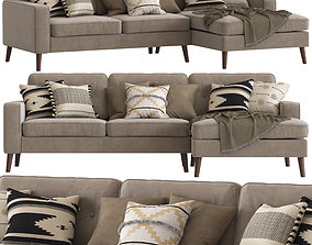 3D Cult Furniture Madison Sofa with Chaise