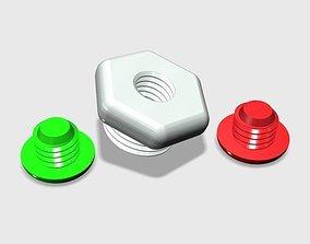 SCUBA - DIN Tank Dust Cap With Thread 3D printable model 3
