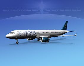 Airbus A321 Cyprus 3D model