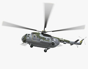 3D asset Mi-17 Czech Air Force Animated