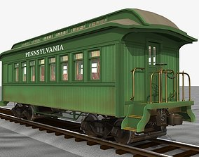3D model PRR Passenger Car