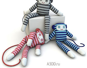 3D model Textile doll Monkey toy