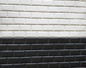 Tile black and white 3D model