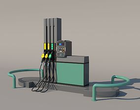 Fuel Dispenser 3D model akaryakit