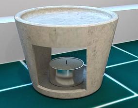 essential oil burner 3D asset