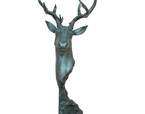 3D printable model Deer Head Statue