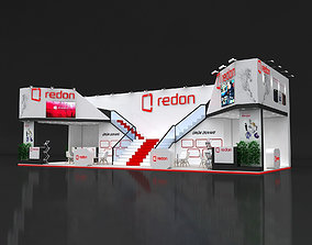 3D Exhibition Stand 6x16m Height 500 cm 3 Side Open