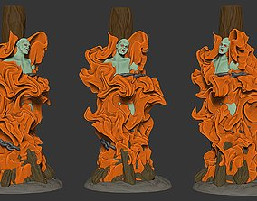 Burning vampire 3D print model