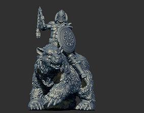3D printable model frazetta barbarian rider 35mm scale