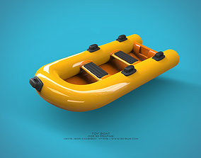 3D printable model dinghy Toy Boat