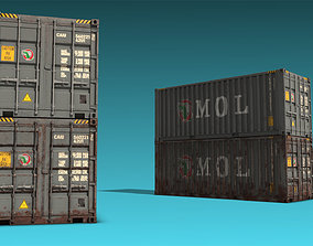 3D asset Shipping Container 12