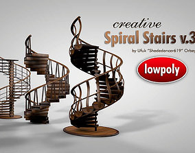 Decorative Spiral Stairs 3D model