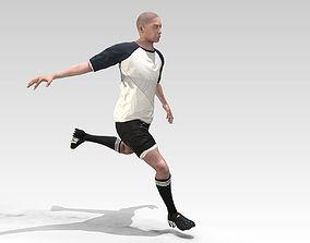 Footballer rigged 3D model