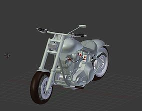 low-poly Harley Davidson Custom 3D model 2018