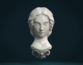 Female Face 3D printable model