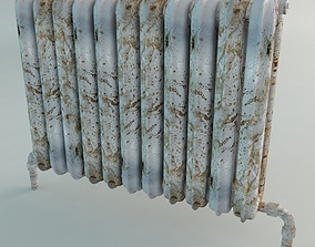 3D Old Radiator Heating