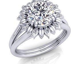 Diamond Ring 3d Model Print anniversary