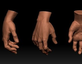 3D mao masculina