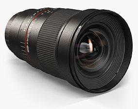 3D asset Rokinon 24mm f 1-4 ED AS IF UMC Lens