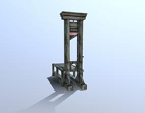 Guillotine punishment 3D asset low-poly