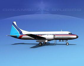 3D model Convair CV-340 Corporate 4