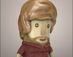 3D model Hipster Character