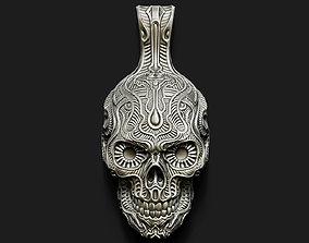 3D print model Fancy Skull pendant
