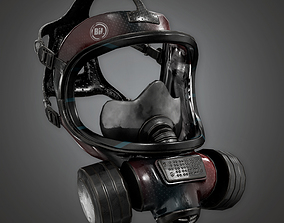 Gas Mask BHE - PBR Game Ready 3D model