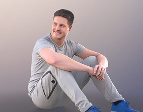 3D model Liam 11132 - Athletic Man Sitting On The Ground 1