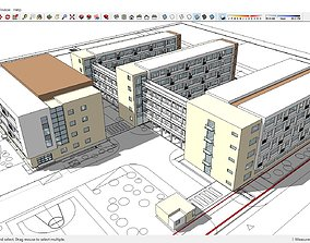 Sketchup school H7 3D model