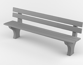 3D printable model Park bench