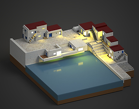 seaside village 3D printable model