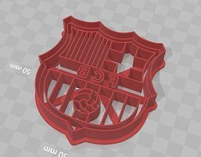 3D printable model Barcelona Shield Cookie Cutter Escudo 1