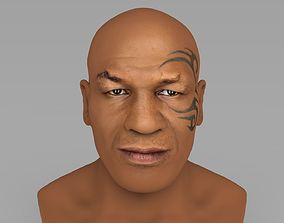 Mike Tyson bust ready for full color 3D printing