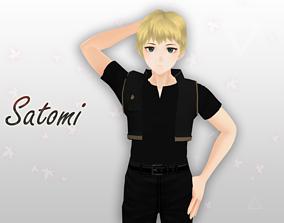 rigged Satomi 3d Model - Original
