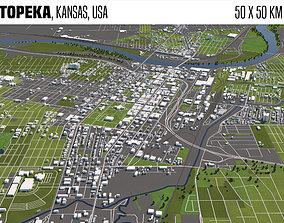 3D Topeka Kansas USA 50x50km